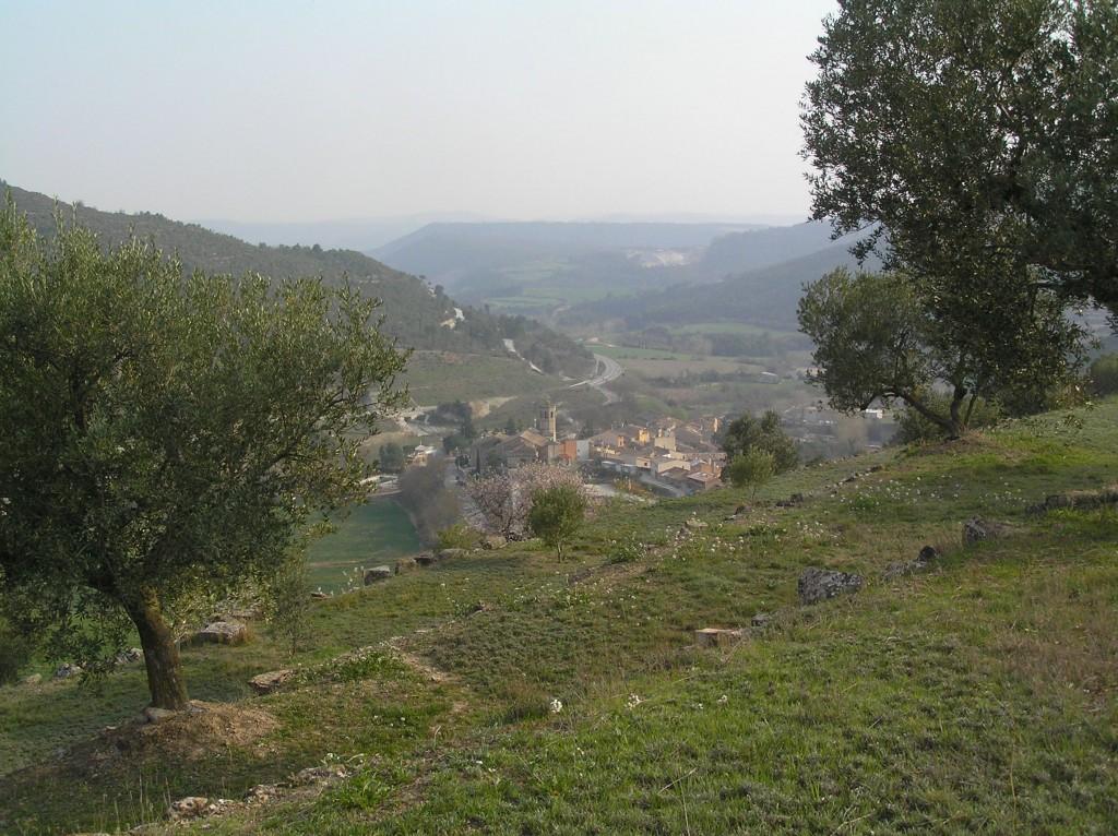 Copons entre les feixes encarades al sud (Copons, Països Catalans)