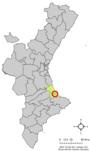 Localització de Rafelcofer (La Safor, Països Catalans)